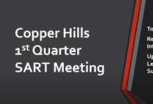Copper Hills 1st Quarter SART Meeting